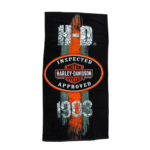 Harley-Davidson 1903 Vintage Road Sign Beach Towel Beach Towels