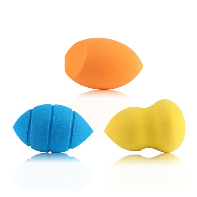 3pcs Makeup Foundation Sponge Blender Puff Powder Smooth Beauty