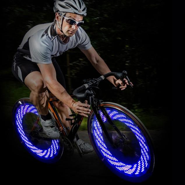 Bicycle Bike Wheel LED Lights Tire Valve Lamp Gas Lamp