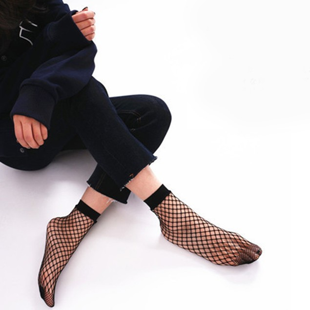 Women's Net Fishnet Pattern Punk Stockings Pantyhose Tight Socks