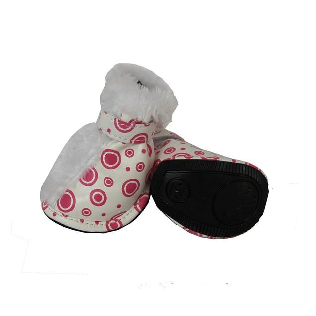 Fashion Premium Fur-Comfort Supportive PVC Pet Boots Shoes - Set of 4