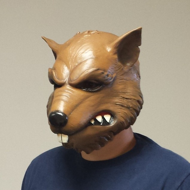 Splinter Mask Teenage Mutant Ninja Turtles TMNT Rat Head Costume Face Adult