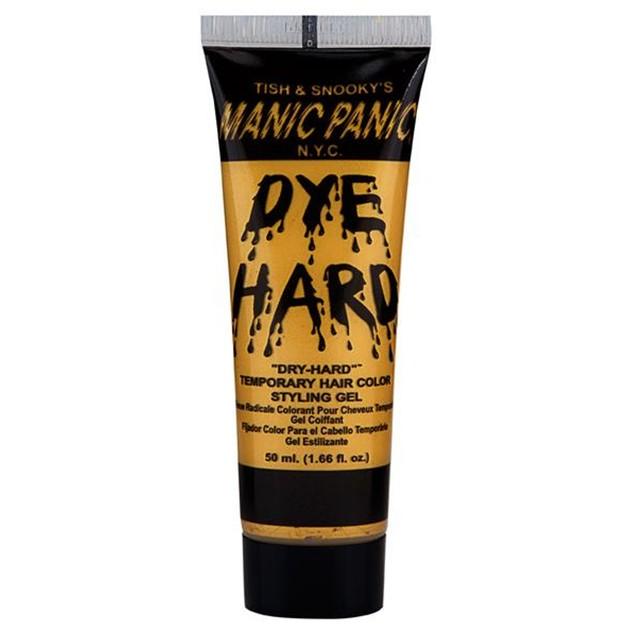 Glam Gold Dye Hard Manic Panic Styling Gel 1.66 oz Washable Color