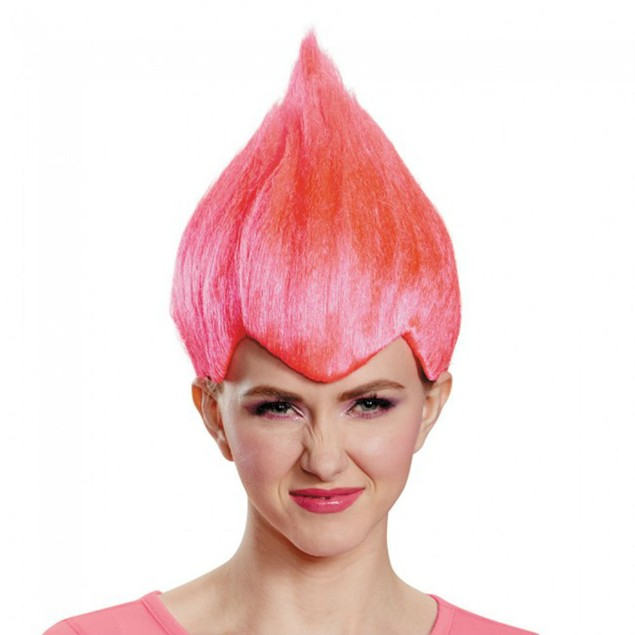 Pink Wacky Wig Adult Troll Gnome Clown Doll Costume Team Dr. Seuss 90's