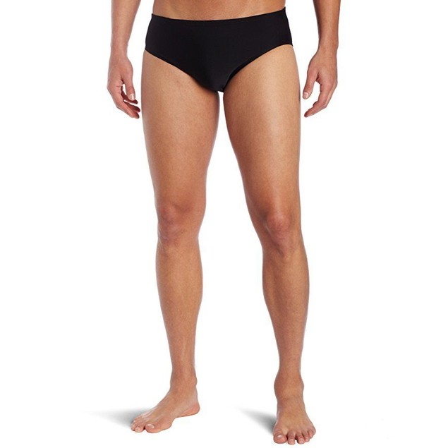 TYR Sport Men's Solid Racer Swim Suit (Black, 32)