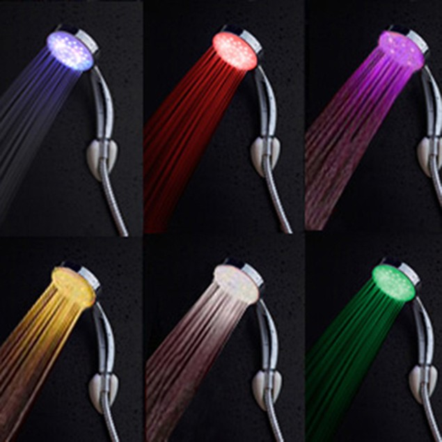 Faucet LED 7 Colors Changing Handheld Showerhead