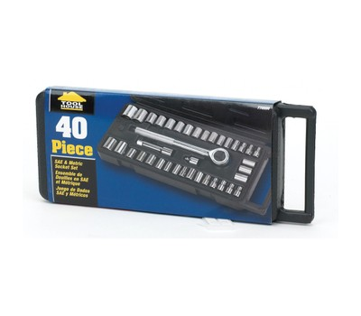 Tool House 40 Piece Socket Set - 770000 Was: $39.99 Now: $18.99.