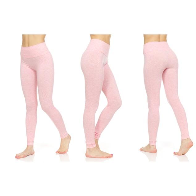 3-Pack Women's Marled Tummy Control Slimming Leggings