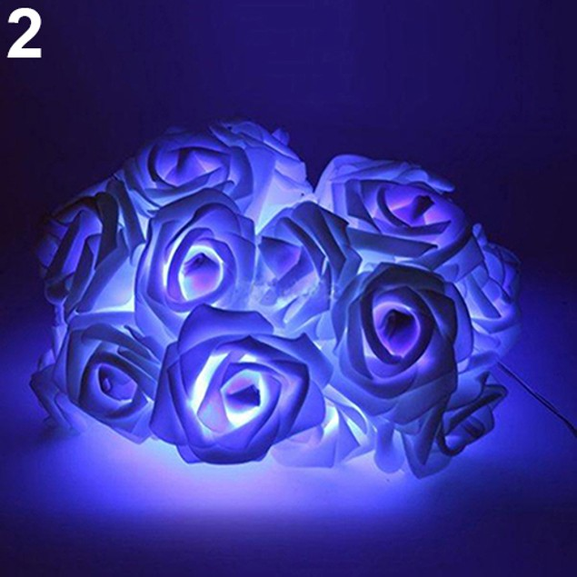 20 Flowers Home Christmas Decoration Simulation Rose LED Light String