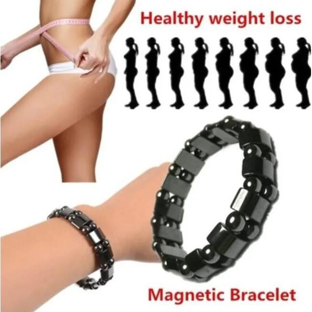 Stone Magnetic Therapy Health Bracelet Neutral Weight Loss Hematite