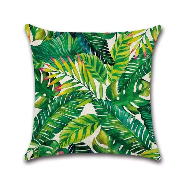 Tropical Plants Decorative Pillowcases Hypoallergenic (South Pacific)
