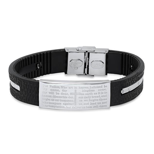 Ridged Lords Prayer Bracelet