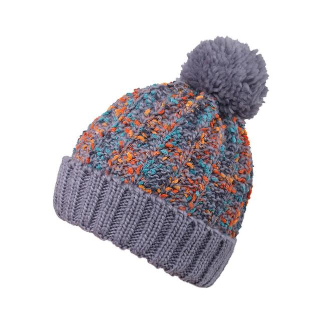 Womens Pom Pom Beanie Chunky Cable Knit Beanie Hat Ski Cap