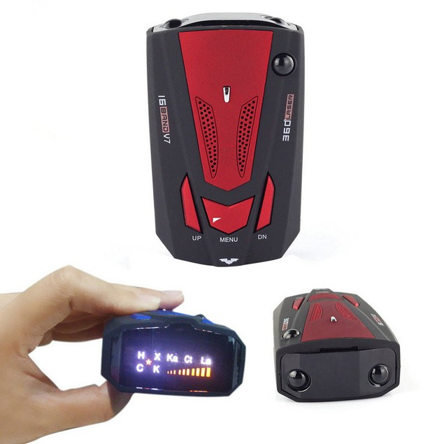360 Degree Car 16 Band V7 GPS Speed Police Safe Radar Detector Voice Alert