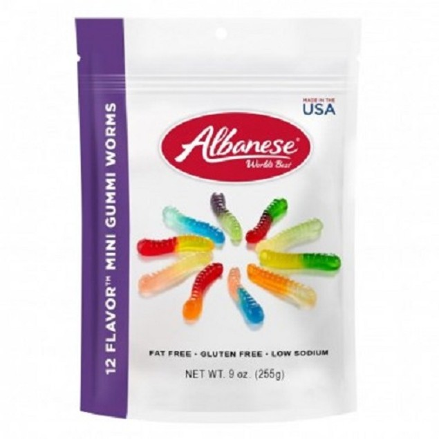 Albanese World's Best 12 Flavors Gummy Worms