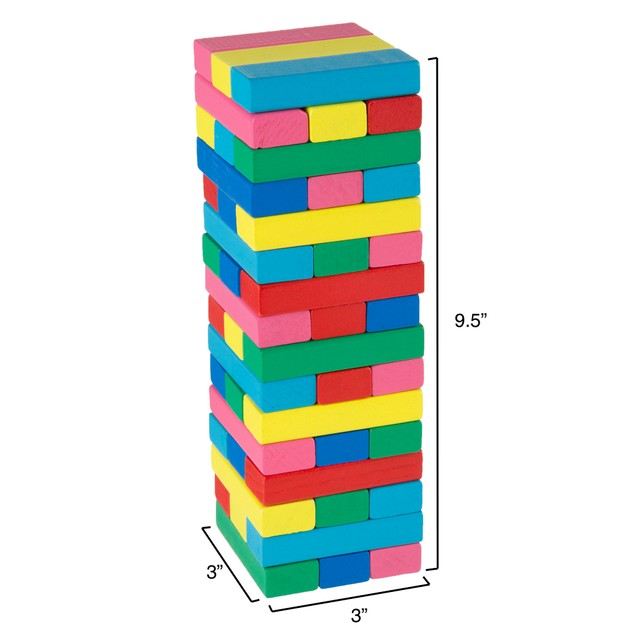 Classic Wooden Blocks Stacking Game