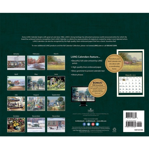 American Dream Wall Calendar, LANG Wall Calendar by Calendars