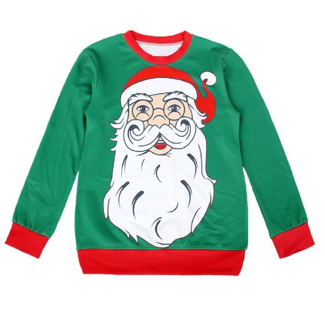 Women Long Sleeve Pullover Sweatshirt Christmas Print T-Shirt Tops D