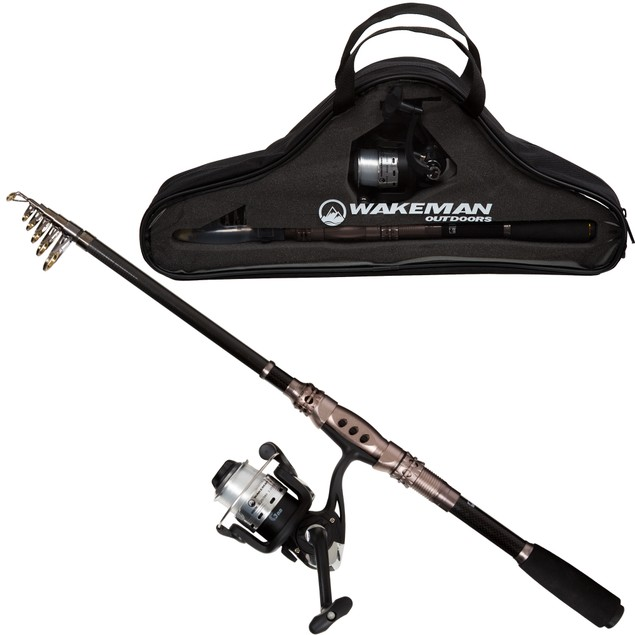 Wakeman Ultra Series Carbon Fiber and Steel Telescopic Spinning Combo