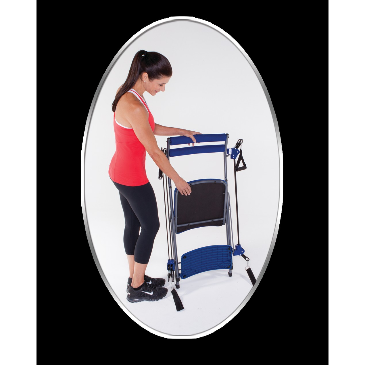 As Seen On Tv Chair Gym Total Body Workout Blue Tanga