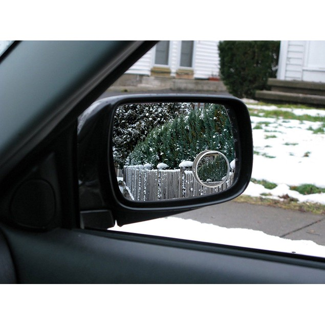 "Zone Tech 2"" Round Rear-view Blind Spot Convex Wide Angle Mirrors"
