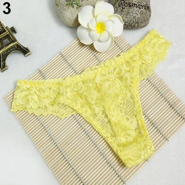Sexy Women Lace Lingerie Thongs G-String