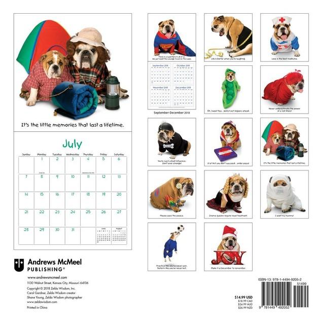Zelda Wall Calendar, Funny Dogs by Calendars
