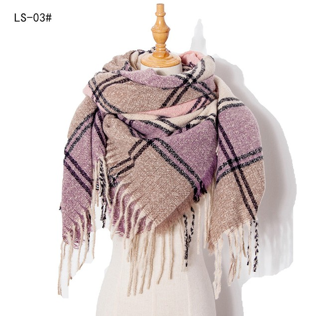 Fringed Scarf Thick Beard Thickening Ladies Shawl