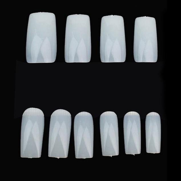 500Pcs Clear White Natural False Fake Acrylic Nail