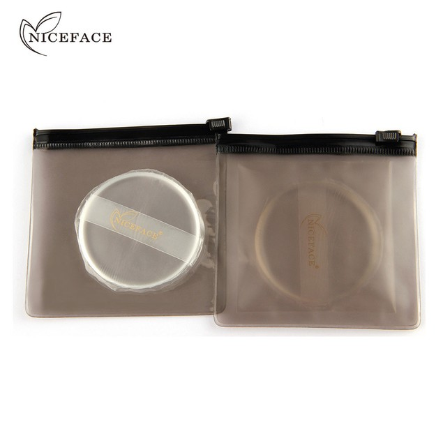Fashion Transparent Silicone Beauty Diaphanous Sponge Make Up Puff