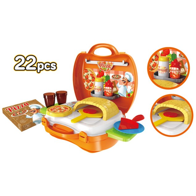 Pizzeria 22 Piece Suitcase Playset