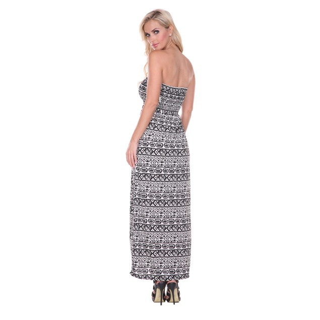 Tribal Print Maxi Tube Dress