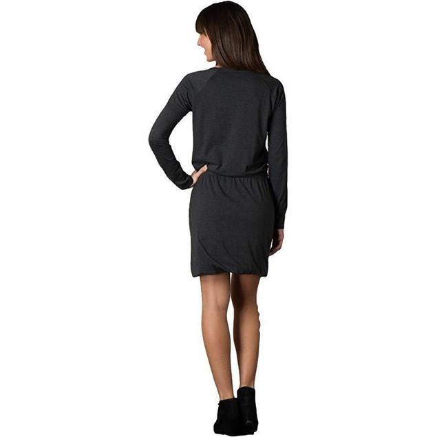 Toad&Co Women's Allisa Long Sleeve Dress Black Heather Dress LG