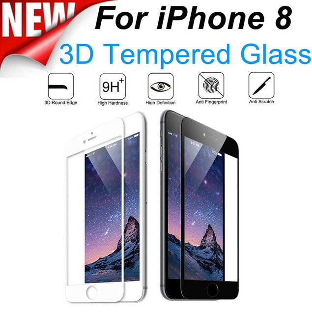 Full Cover Tempered Glass Protector Film For iPhone 8 4.7 inch / 5.5 inch