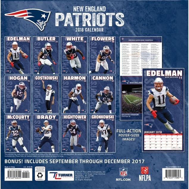 New England Patriots Wall Calendar, New England Patriots by Calendars