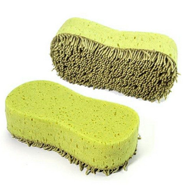 Practical Cleaner Coral Microfiber Sponge Brush For Auto Car