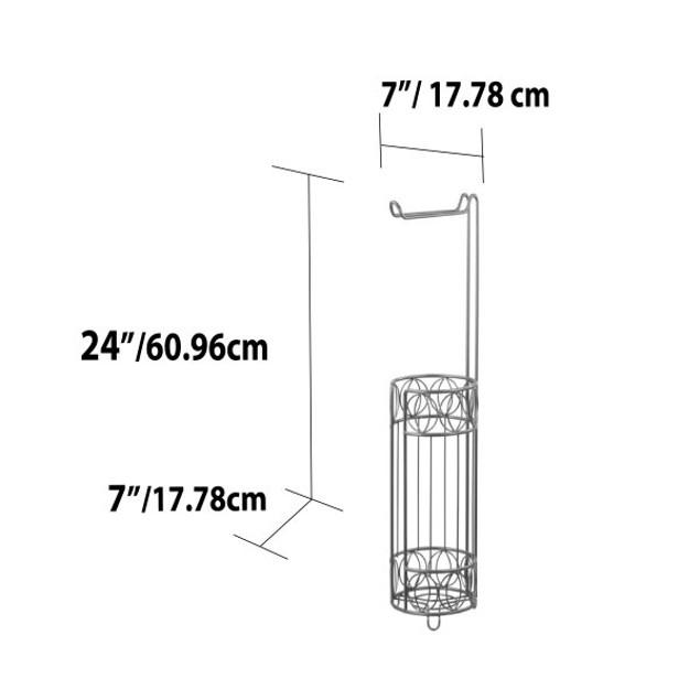 Seville Free-Standing Dispensing Toilet Paper Holder, Satin Nickel