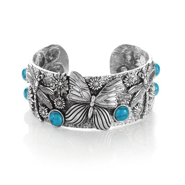 Novadab Imperial Carved Southwest Turquoise Cuff (Diameter Is 6.2 Cm )