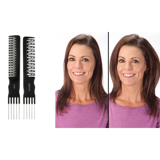 Natural Teasing Comb for Volume (2-Pack)