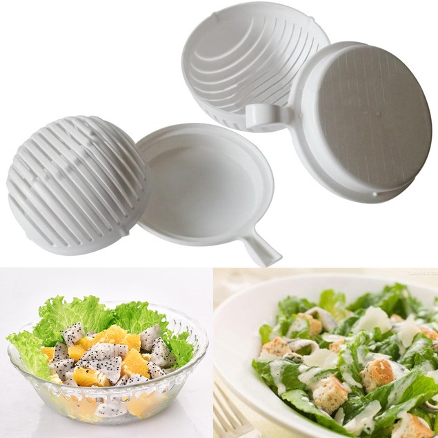 60 Seconds Salad Maker Healthy Fresh Salads Made Easy Salad Cutter Bowl