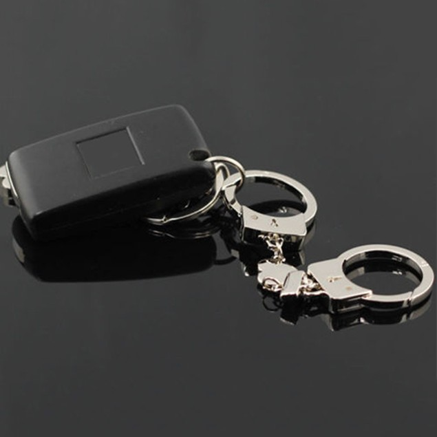Gadget Romantic Lover's Double Handcuffs Keyring Key Fob Keychain
