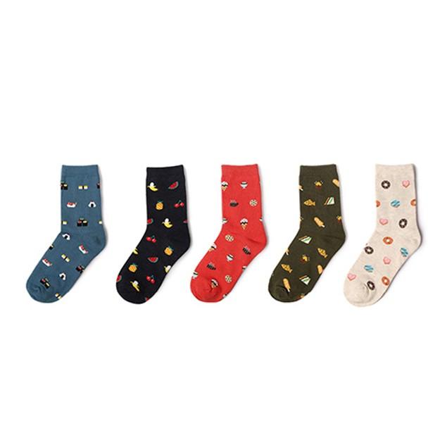 Sushi & Fruit Pattern Cotton Socks