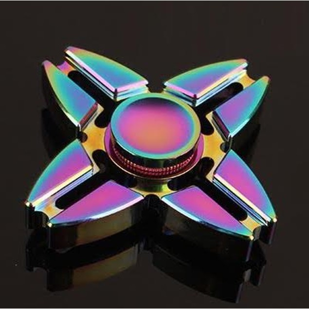 4-Sided Rainbow Fidget Spinner