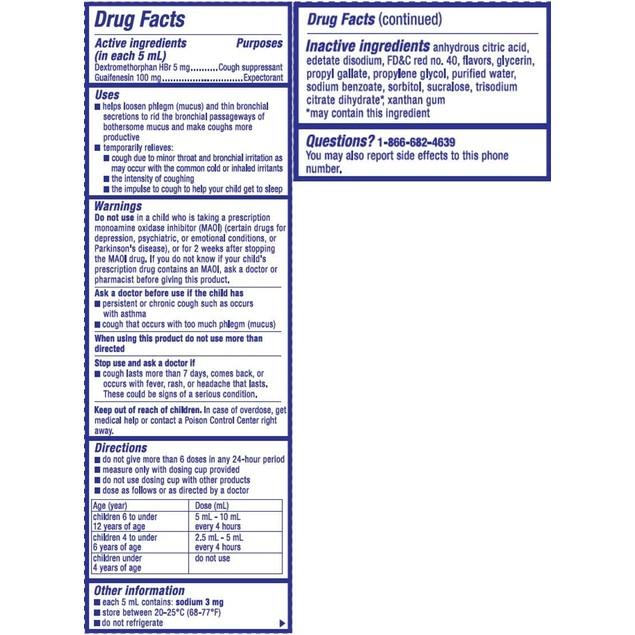 Delsym Children's DM Cough Plus Chest Congestion Relief Liquid, Cherry, 4