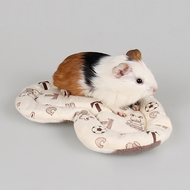 Fleece Guinea Pig Bed Winter Small Animal Cage Mat Hamster Sleeping Bed