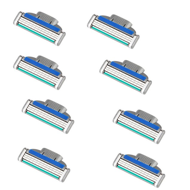 8x Man Shaving Razor Refills Cartridge Blade 3 layer for Gillette Fusion