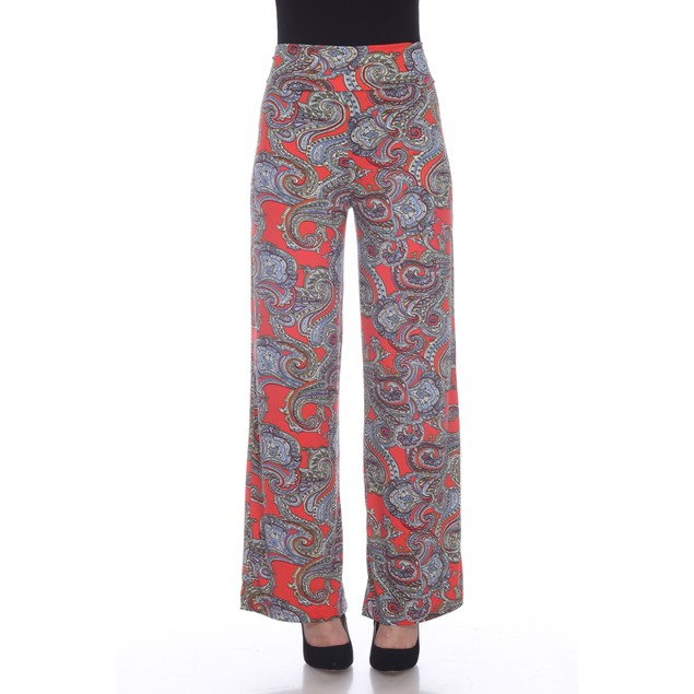 Paisley Printed Palazzo Pants - 9 Colors - Extended Sizes