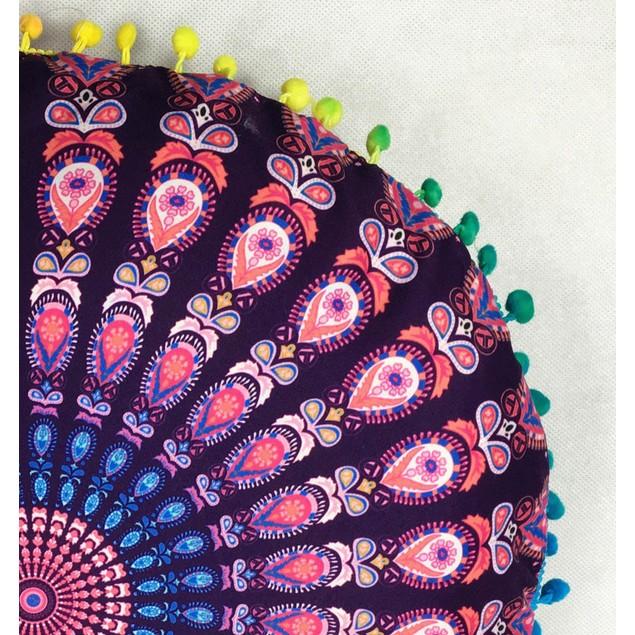 Indian Floor Pillows Round Bohemian Cushion Cushions Pillows Cover Case