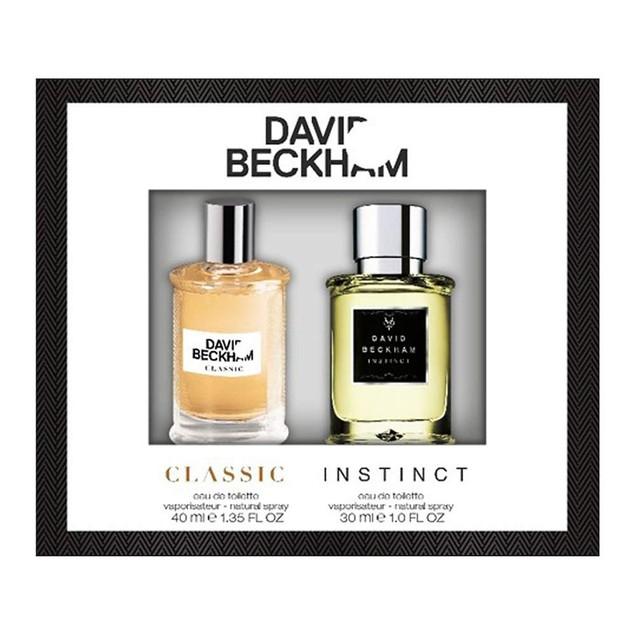 David Beckham Men's Cologne Classic & Instinct Set EDT Spray Collection,