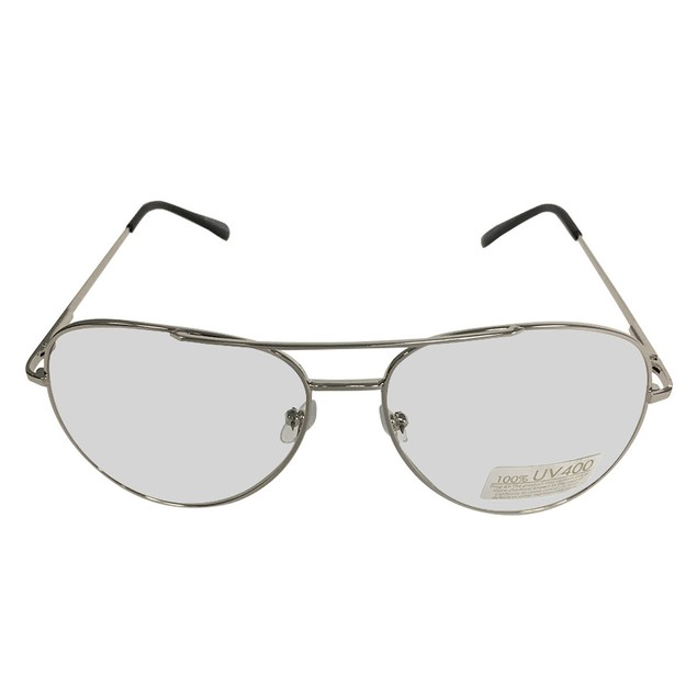 Silver Frames With Clear Lens Glasses